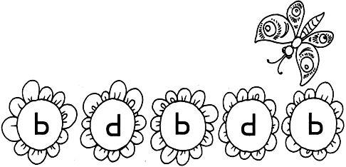 Раскрась только те ромашки, на которых буква Ь (мягкий знак) написана правильно. Соедини их с бабочкой.