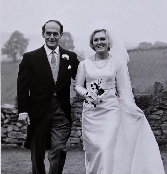 Blast from the past: In Monday's episode of Mary Berry Everyday, the TV chef, 82, opened up her wedding album to fans for the first time