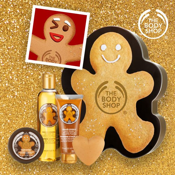 Enjoy the spicy, special-edition scent of ginger from top to toe with this pampering gift set. Packaged in a reusable tin shaped like a gingerbread man, with Community Fair Trade shea butter from Ghana.