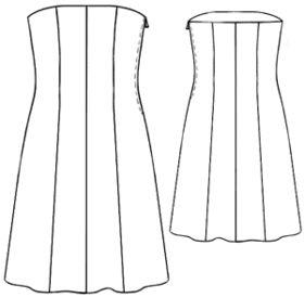 free pattern size XS-XL - #5201 Corsage dress