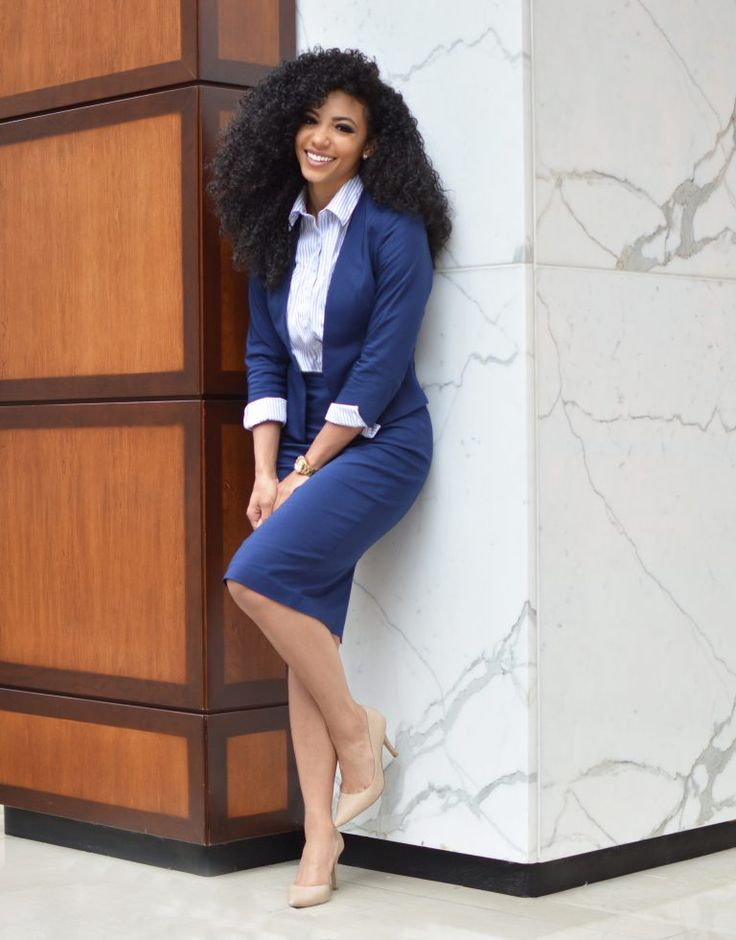 Picks: Comfortable Women's Navy Suit - White Collar Glam | Business professional attire, Work outfits women, Professional outfits