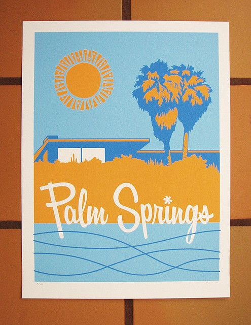 Palm Springs Sunny, great shopping, architecture and craggy peaks.  Southern California