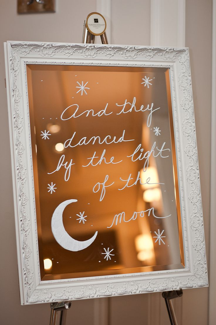 """...and they danced by the light of the moon"" -  married on the full moon! #Wedding #Decor"