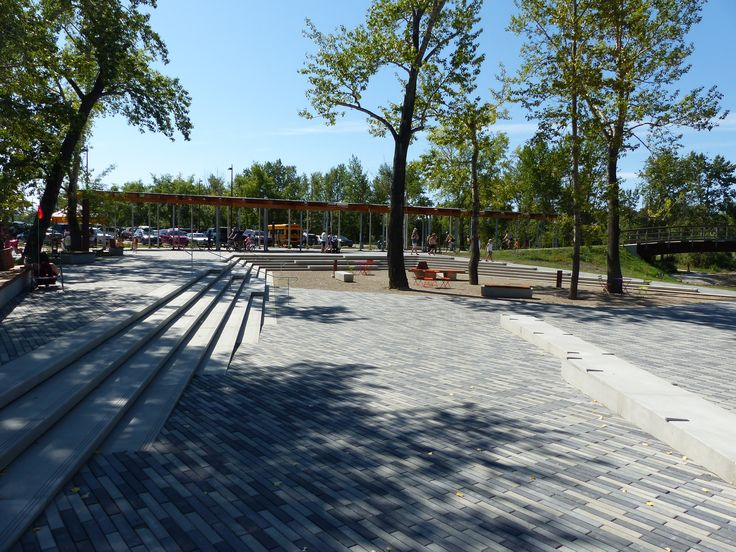 Saint Patrick's Island Calgary. #BURNCO Broadway is a paver with a linear, contemporary design and can be used to create flow to any outdoor living space.
