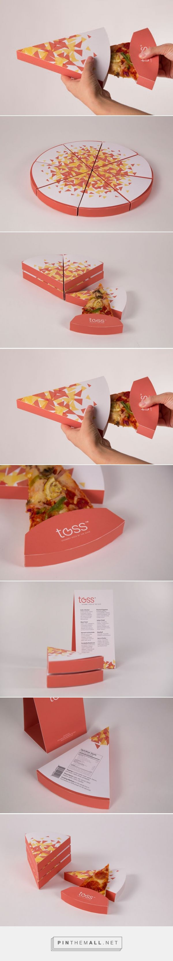Toss - Gourmet Pizza By The Slice (Student Project) on Packaging of the World - Creative Package Design Gallery... - a grouped images picture - Pin Them All