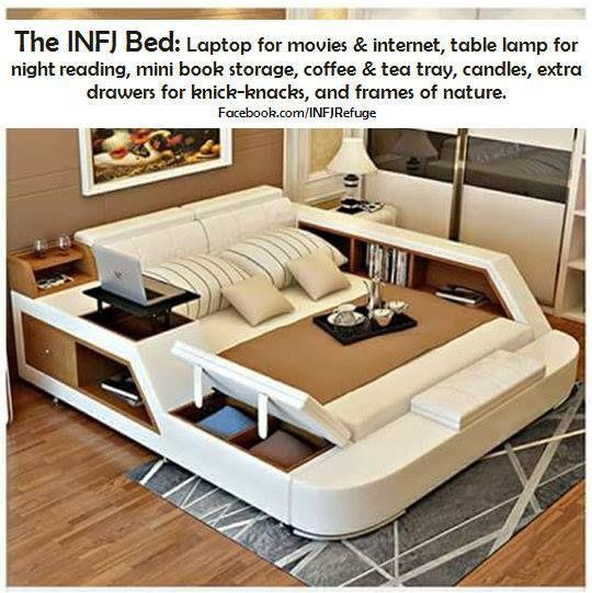 ''The INFJ Bed'' source: INFJ Refuge.. infj. c'est moi. mcr