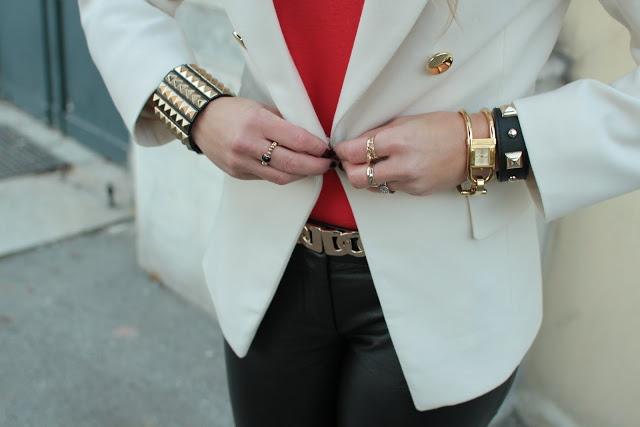 I love golden jewelry! Bracelets - Forever21, watch - Burberr, rings - C, Dubai gold souk.