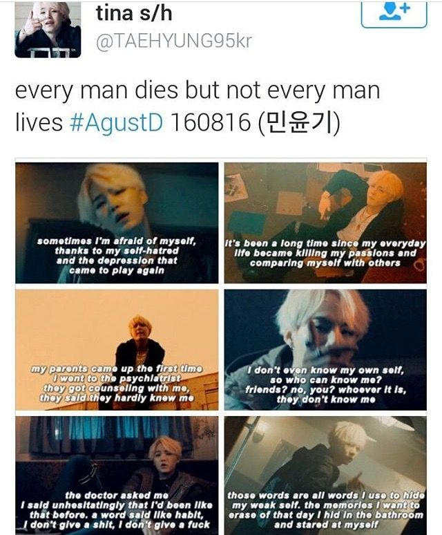 I know this is kpop related, but this man has been through a lot, and these lyrics speak so much to me. It's very hard to live with mental illnesses, and he gives me hope.