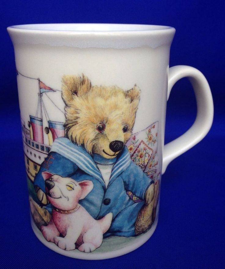 Dovedale Victorian Toys Mug Teddy Bear Doll Ship Coffee Made In England Tea Cup #Dovedale