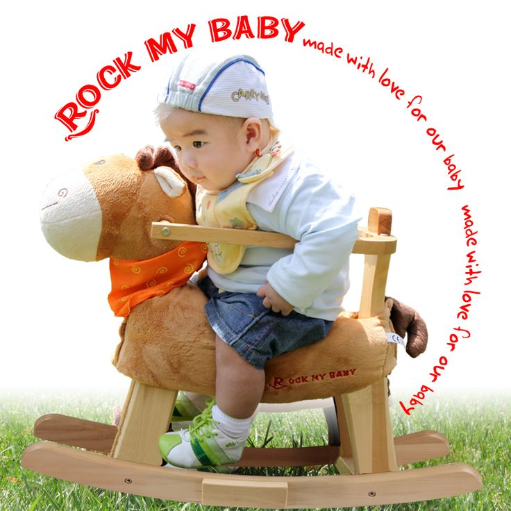2017 Limited Sale Unisex 2-4 Years Kids Shake Baby Horse Wooden Rocking Dual-purpose Chair Toys With Music Puzzle Gift 0-3years