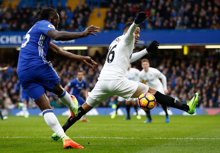 Victor Moses & Martin Olsson: Chelsea 3-1 Swansea City, 25 Feb 17