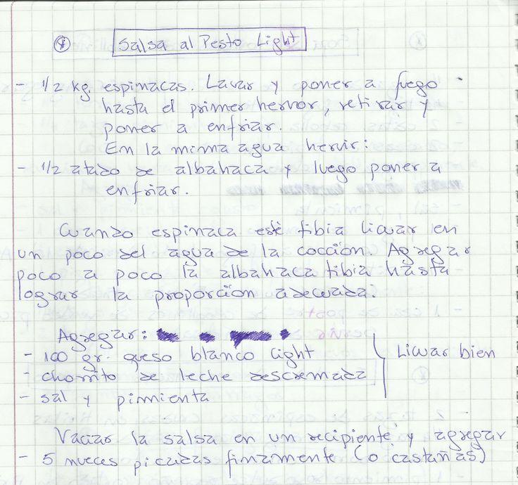 SALSA AL PESTO LIGHT   #SALADO #SALSAS #SALSA #ESPINACAS