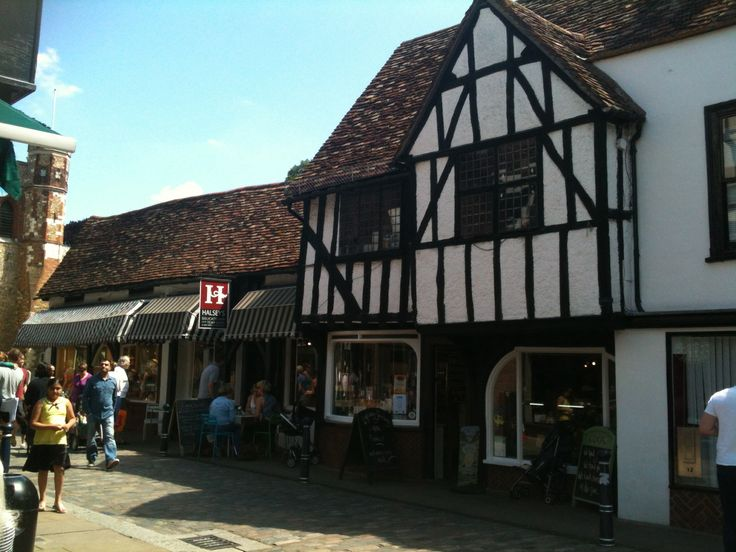 Hitchin town centre, England, beautiful historic town