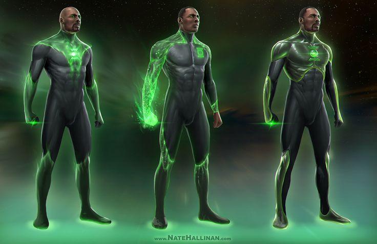 Green Lantern Concepts (John Stewart) by NateHallinanArt.deviantart.com