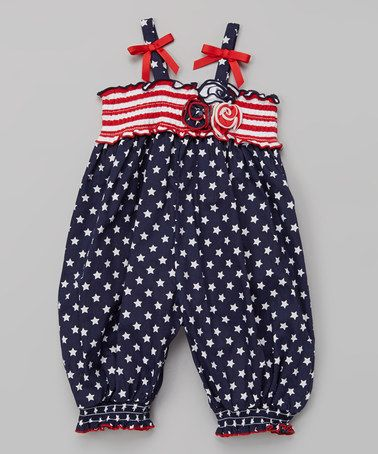 Navy & Red Polka Dot Romper - Infant, Toddler & Girls by Gerson & Gerson #zulily #zulilyfinds