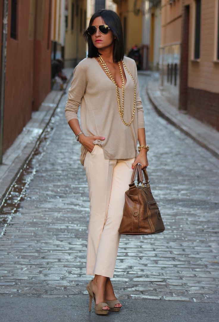 women's fashion- spring outfit, neutrals