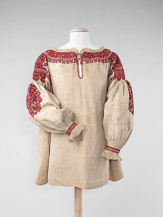 Blouse Date: late 19th century Culture: Spanish Medium: linen, silk