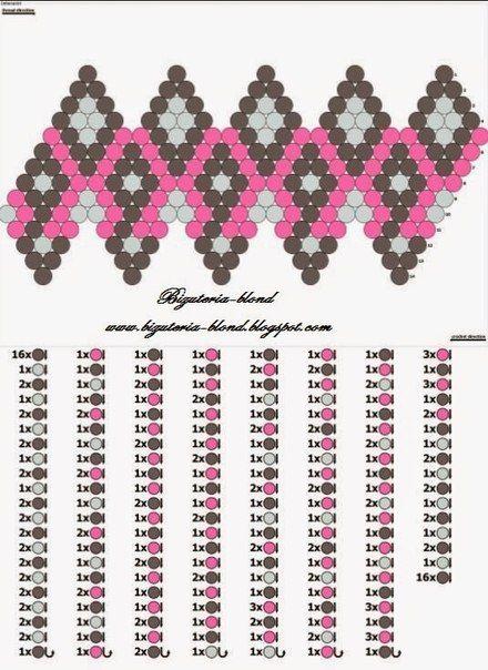 бисер схемы плетения