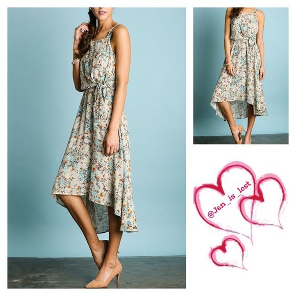 Floral Print Maxi Dress Floral Print Maxi Dress  Color cream Fabric: COTTON BLEND   No trades  ✅ Reasonable offers welcomed. ✅ Happy Poshing  Dresses Maxi
