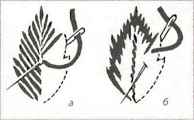 Основные стежки вышивки гладью