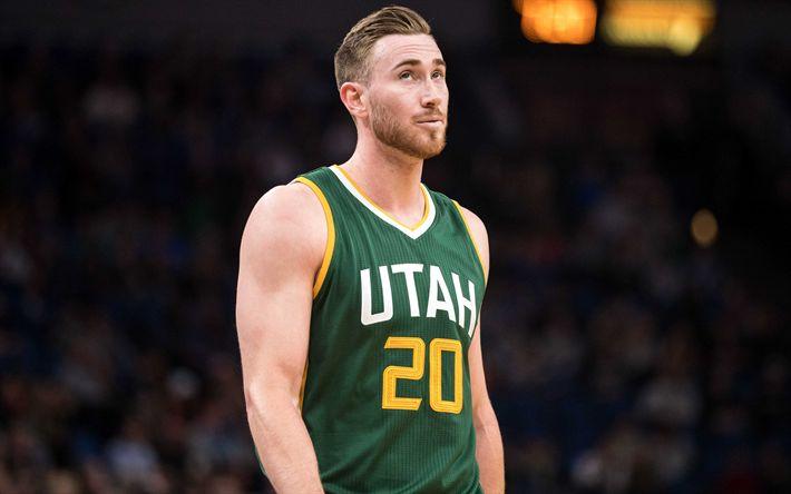 Descargar fondos de pantalla De la NBA, 4k, Gordon Hayward, de baloncesto, de los Jazz de Utah