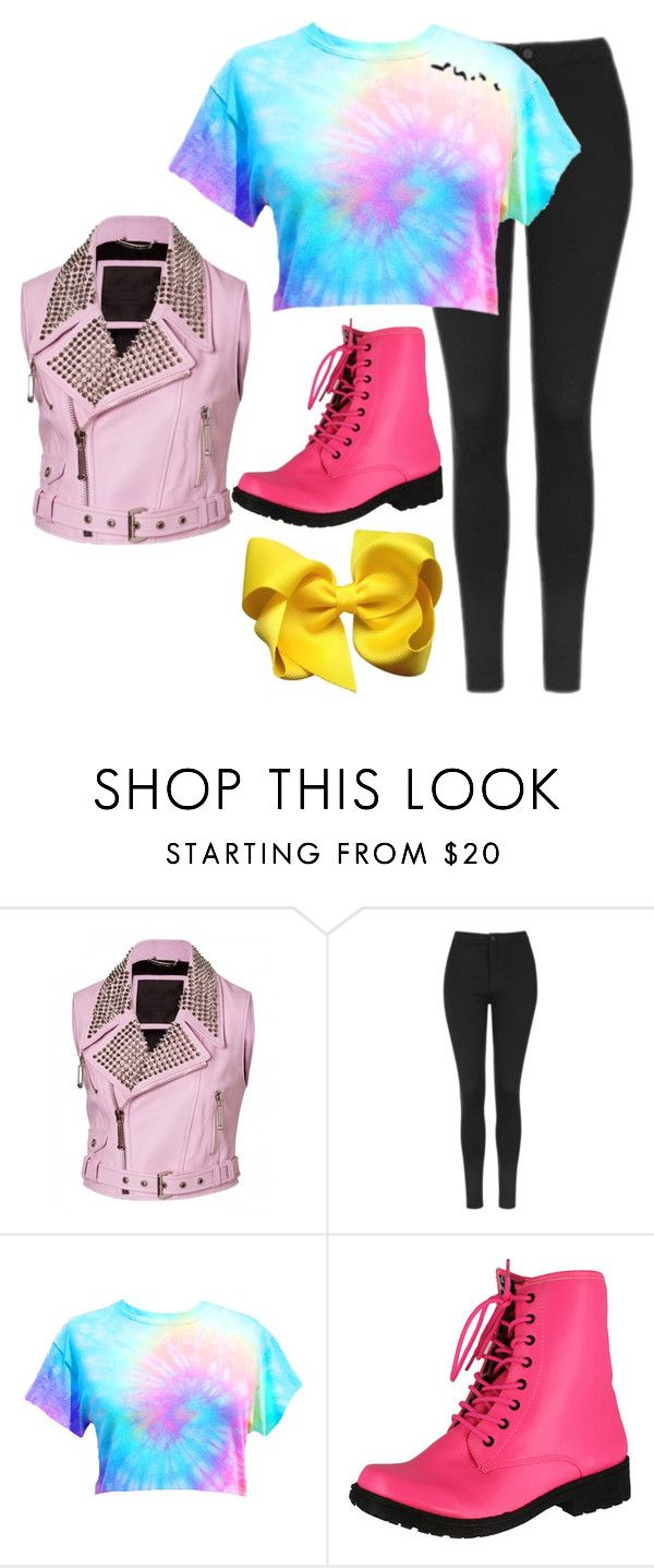 """""""#jojo siwa boomerang"""" by aholmes1 ❤ liked on Polyvore featuring Topshop and Qupid"""