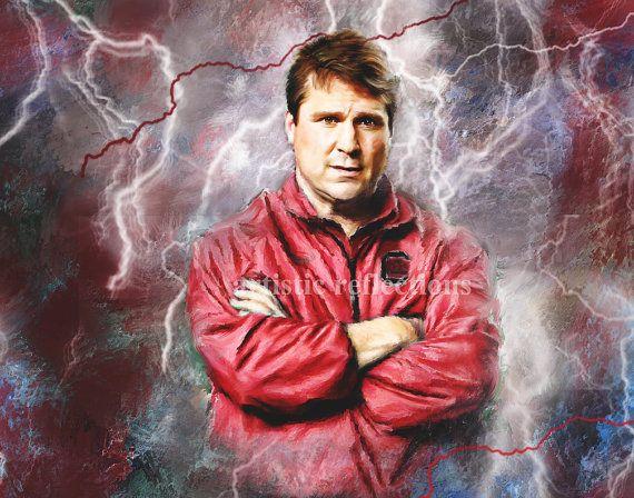South Carolina Gamecocks Thunder Boom Storm Will Muschamp Art Print