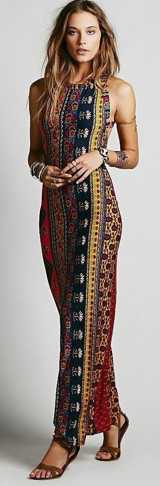 Women's fashion | Patterned maxi dress