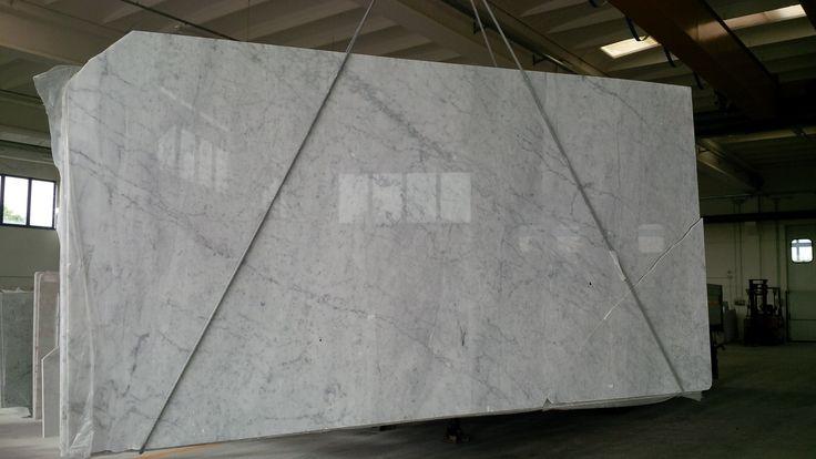 #Lastre di #biancocarrara lucido #marble #marmo