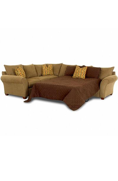 Fletcher Sofa Sleeper Spacious Sectional By Klaussner   Wolf Furniture    Sofa Sectional Pennsylvania, Maryland