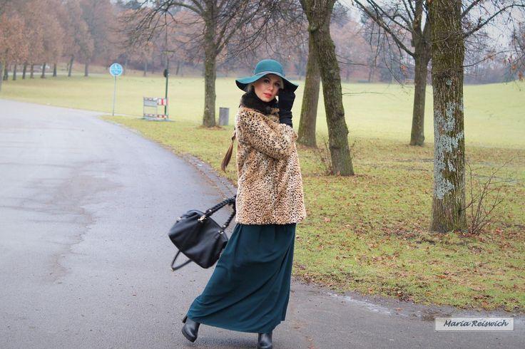 с чем носить леопардовое пальто - как стильно одеться зимой и весной 2017 - леопардовая шуба и шляпа как носить фото - стильный образ на зиму - как одеться модно и молодежно