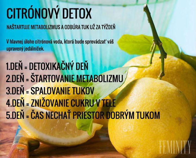 Citrónový detox a úprava