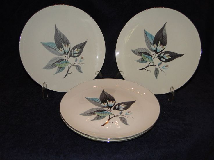Homer Laughlin Rhythm Lotus HAI Flower Dinner Plate 10 1/4\  Set of FOUR & 185 best Dinner Plates - All types of Dinner Plates! images on ...