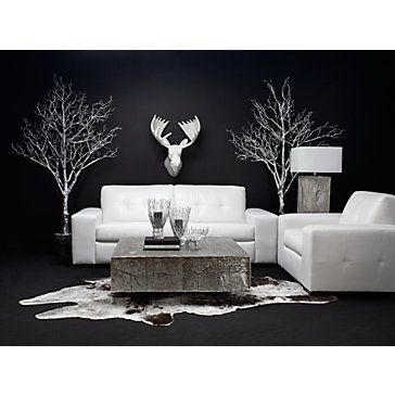 Moose Head - White Lacquer | Z Gallerie - i'm not gonna lie. my gf has this over her tv. it's AMAZING. (the moose head ) i kinda want you to put it on your mantle. not a joke.