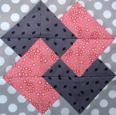 card trick quilt block-tip ... great example of how to update a traditional block with modern fabrics.