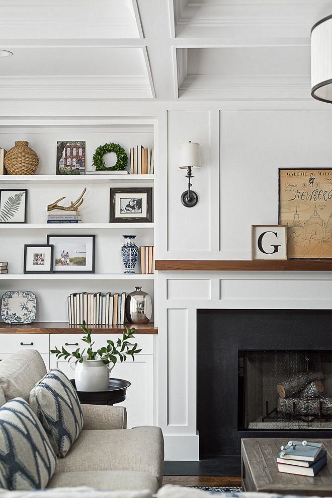 The fireplace features leathered black granite surround leathered black granite …
