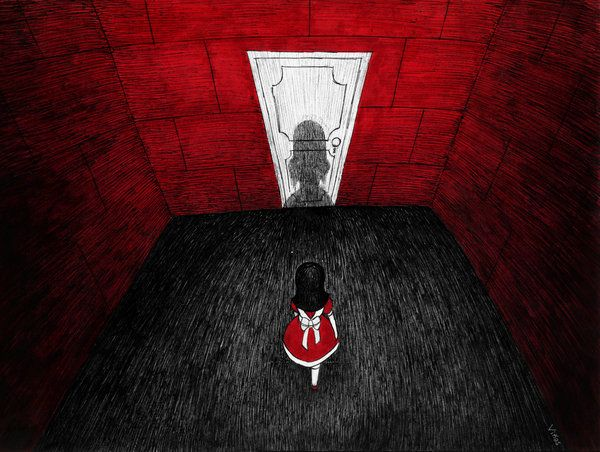 The Mirror, illustration by Gastón Viñas - ego-alterego.com