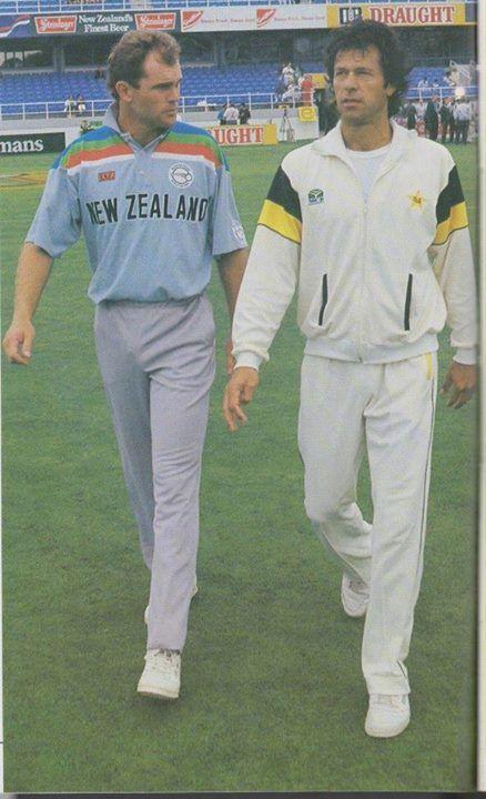 Walking alongside with New Zealand Captain in Semi Final