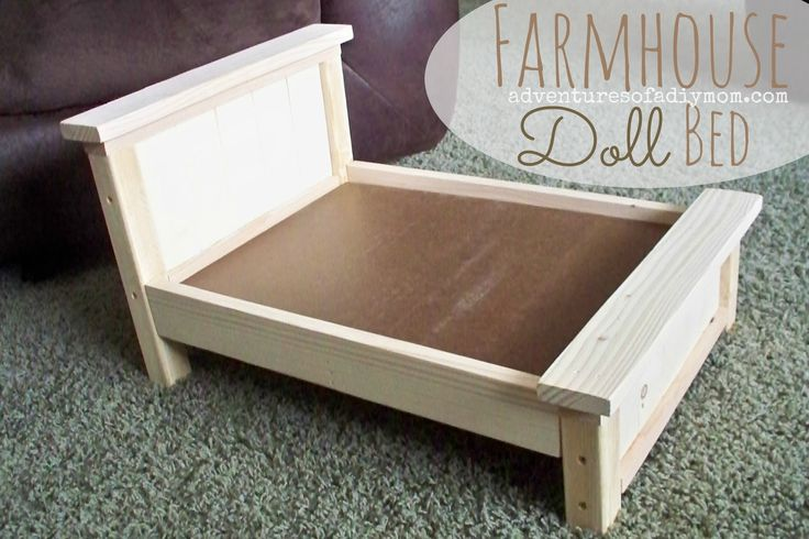 DIY Farmhouse Doll Bed for American Girl Dolls