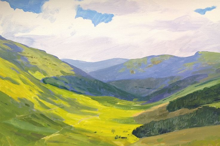 Learn how to paint distant hills in #acrylics with Jon Cox as part of our #landscapes academy. Now available on ArtTutor.