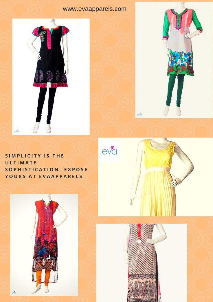 Simplicity is the ultimate sophistication , Expose Yours at the #evaapparels  Visit - www.evaapparels.com