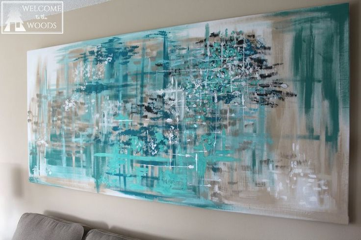 Make LARGE Canvas Wall Art for $14