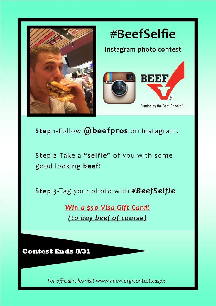 It's #BeefSelfie time! Join us on #Instagram for a chance to win! We can't wait to see your good looking #BeefSelfies!
