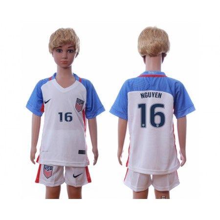 USA Trøje Børn 2016 #Nguyen 16 Hjemmebanetrøje Kort ærmer.199,62KR.shirtshopservice@gmail.com