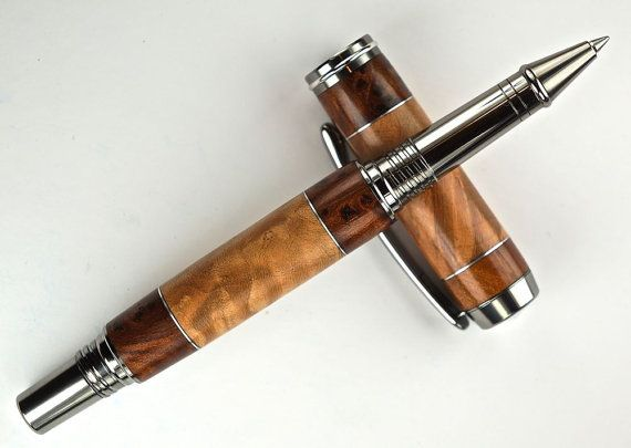 Handcrafted Wooden Pen Hand Turned Thuya Burl by MikesPenTurningZ, $119.00