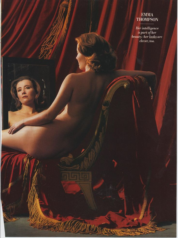 Emma Thompson posing in style of the 'Rokeby Venus' photographed by Snowden Vanity Fair Feb 1993