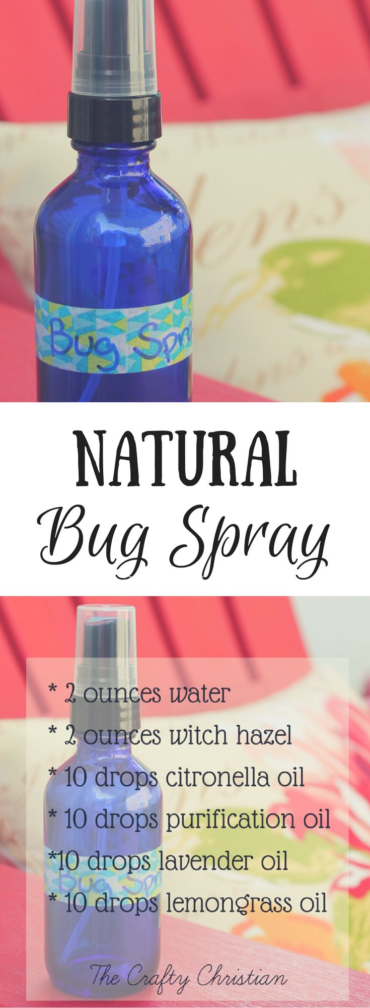 Natural bug spray is perfect for people who are chronically ill, or for kids…