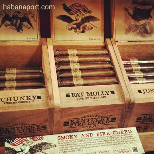 The MUWAT KFC (Kentucky Fire Cured) cigar by Drew Estate and Joya de Nicaragua is available in our humidors.
