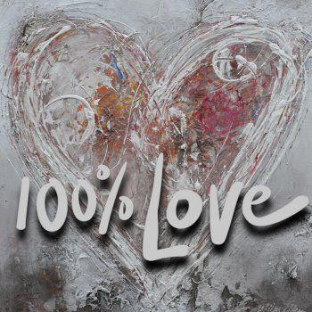 Wilma Veen - 100% Love schilderij kaart (Voorzijde)