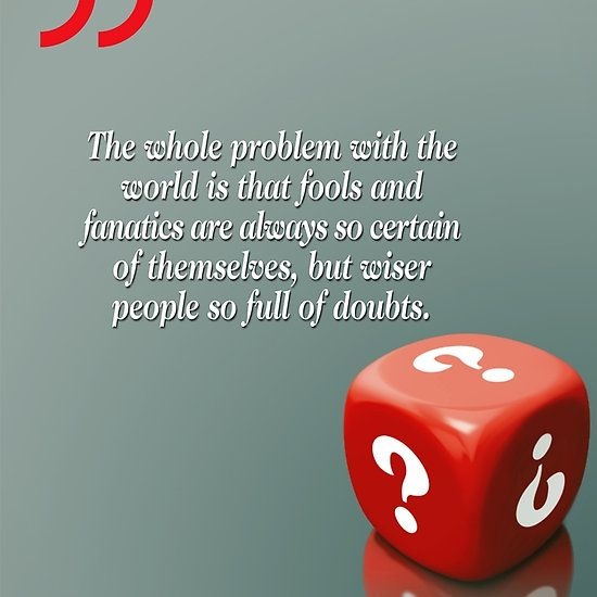 Doubt With Intelligence (Quotation)